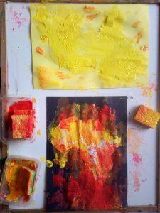 afrique tampon peinture