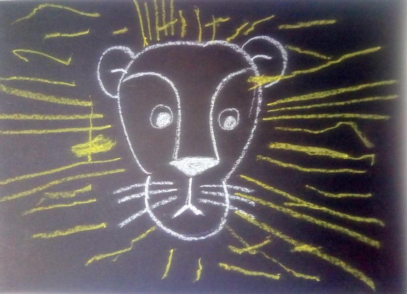 lion graphisme