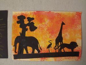 afrique silhouette savane
