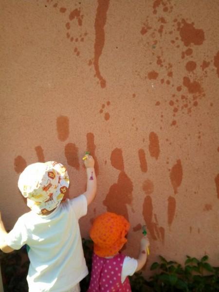 peindre avec de l'eau