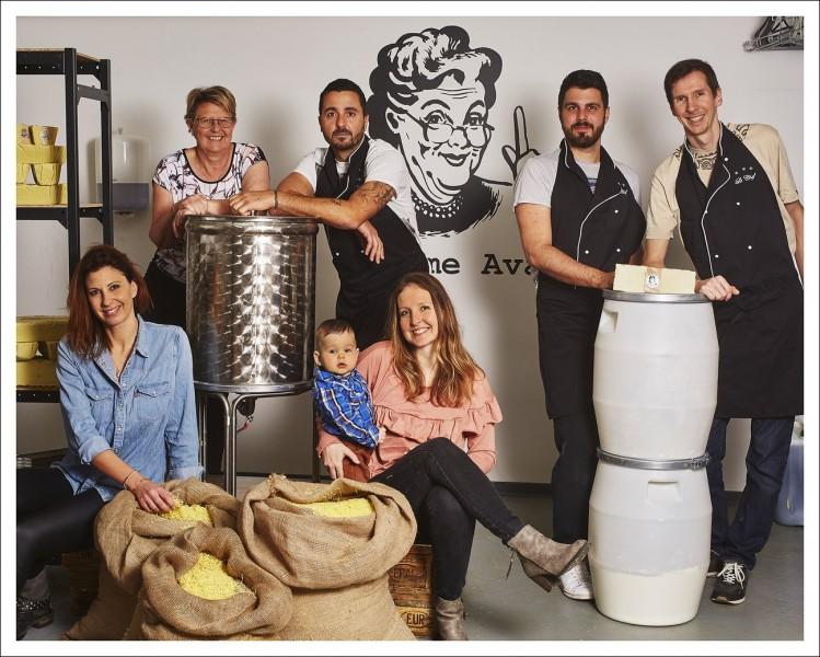 L'équipe Comme avant et la famille