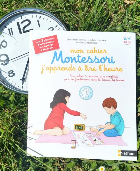 mon cahier montessori j'apprends à lire l'heure