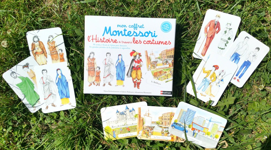 coffret montessori histoire à travers les costumes