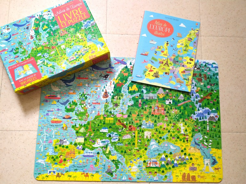 livre puzzle de l'Europe usborne